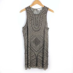 Parker Silk Beaded Gatsby Flapper Mini Shift Dress